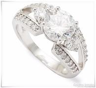 Fehér arany - gold filled -gyűrű cirkon kövekkel
