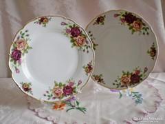 Jelzett porcelán rózsa mintás süteményes vagy kínáló tál