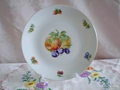 Jelzett porcelán süteményes vagy kínáló tál /gyümölcs mintás