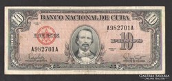 10 pesos 1960.  Kuba!  NAGYON SZÉP!