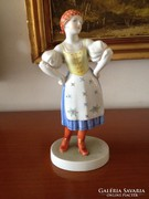 Herendi női figura ( 24 cm ), eladó