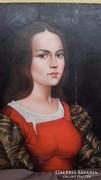 Fára festett nő
