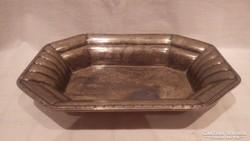Antik ezüstözött tál