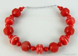 0L400 Retro piros női nyaklánc 40 cm