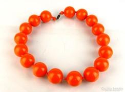 0L399 Retro narancssárga női nyaklánc 50 cm