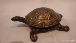 Réz teknős hamutartó