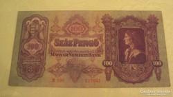 SZÁZ PENGŐ, 1930-as kiadású, SORSZÁMOZOTT - UNC !