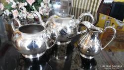 James Deakin sheffieldi  ezüstözött teás készlet