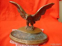 Antik bronz Turul,sas névjegykártyatartó