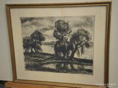 Fehér Ilona (1913-1983) : Folyóparti fák