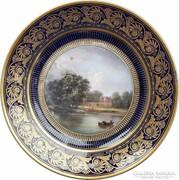 Sévres-i topográfiai porcelán tányér