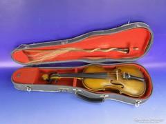 0F161 Régi szegedi hegedű tokkal vonóval