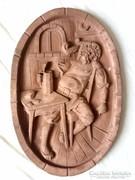 Antik boros pince jelenetes nagy falikép
