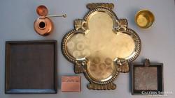 6 db szép bronz, réz tárgy együtt