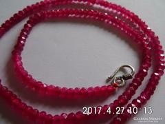 Rózsa rubin nyaklánc
