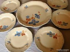 Zsolnay barokk süteményes 7db ,régi pajzscímeres,hibátlan...
