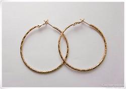 18 Karátos ragyogó arany -gold filled - fülbevaló 48 mm
