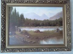 Fischer tájkép festmény