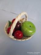 Nagyon régi német porcelán gyümölcskosár jelzéssel a talpán