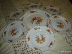 7 db francia arcopal tejüveg tányér