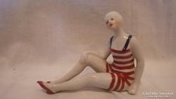 Francia Art Deco fürdőruhás nő szobor