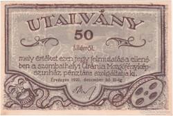 Uránia Mozgófényképszinház - 50 fillér