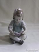 Grafenthal porcelán olvasó kislány