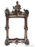Antik barokk bronz képkeret, ötvös által mesterjelzett