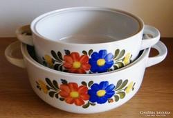2 db porcelán leveses tál
