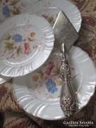 Szecessziós ezüstözött tortalapát