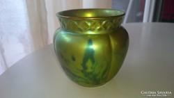 Zsolnay régi eozin kis kaspó, váza