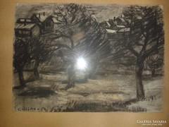 Göllner Miklós: Téli Parkrészlet (1954)