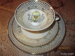 Vallási témájú MITTERTEICH Bavaria porcelán reggelizőkészlet