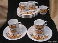 5 személyes kávés,süteményes szett