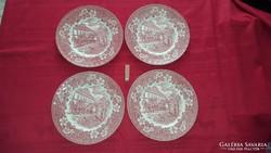 Angol porcelán lapostányérok ( 4db )