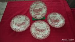 Angol porcelán mély tányérok ( 4 db )