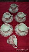 Angol porcelán teáscsészék 6 személyre