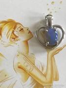 Valódi kék opál köves ezüst medál