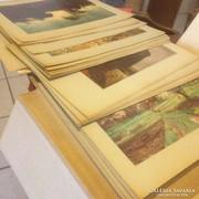 Reprodukció gyűjtemény 74 db Lett és Orosz Szépművészeti