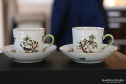 Herendi Rothschild Kávés csésze és alj 2 darab