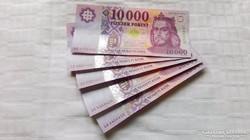 2014 évi Új 10.000.-Ft-os bankjegy 5 db sorszámkövető