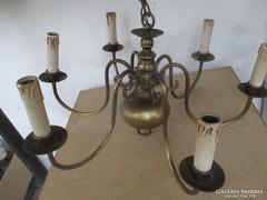 Csodálatos 6 ágú bronz csillár