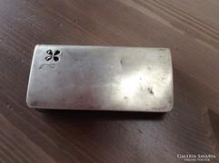 Antik ezüst bőr pénztárca