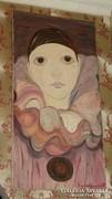 Bohóc jelzett festmény