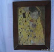 Gustav Klimt Csók c. festény reprodukció