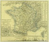 0L615 Antik acélmetszet térkép FRANCZIA ORSZÁG