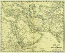0L617 Antik acélmetszet térkép ELŐ ÁZSIA NÍLUS