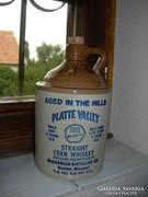 Amerikai whiskys cserép palack