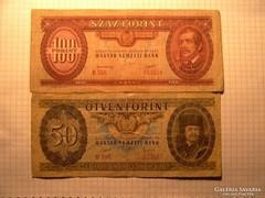 Rákosi-címeres 50 , és 100 Forint 1949-51 !