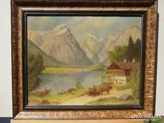Olv. jelz. (20.sz.közepe): Alpesi táj